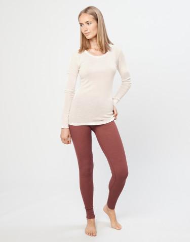Legging en laine mérinos pour femme Rouge