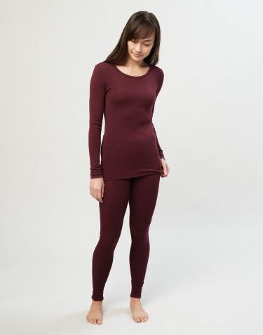 Legging en laine mérinos pour femme Rouge noël