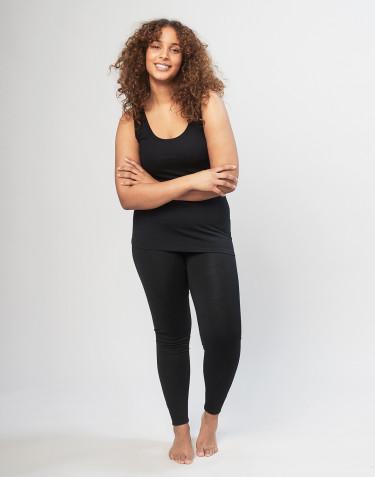 Legging grande taille DILLING en laine pour femme Noir
