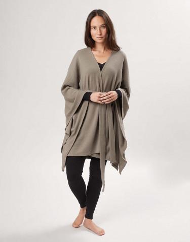 Poncho pour femme en laine mérinos