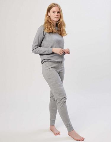 Pantalon pyjama en coton pour femme Mélange de gris
