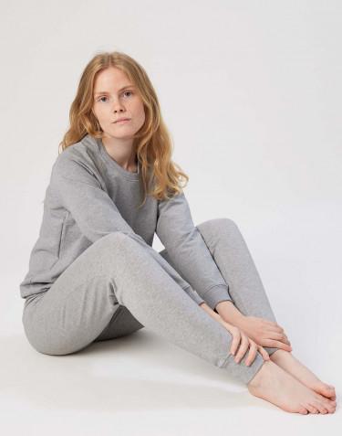 Sweatshirt en coton pour femme Mélange de gris