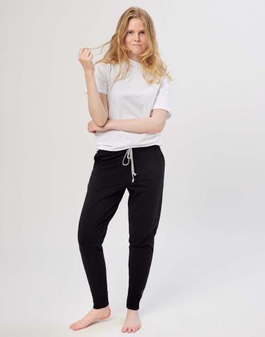 Pantalon de jogging en coton pour femme Noir