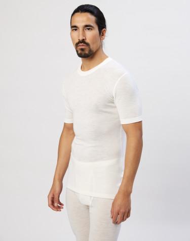 Tee-shirt en laine mérinos pour homme Naturel