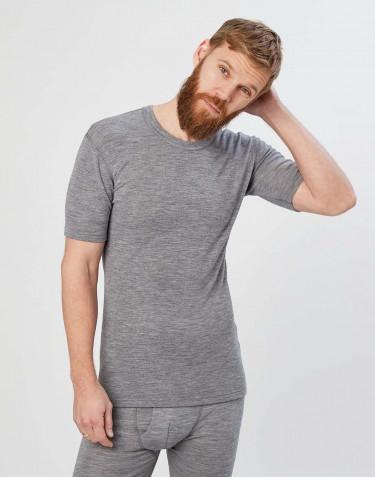 Tee-shirt en laine mérinos pour homme Mélange de gris