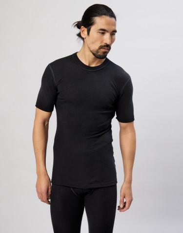 Tee-shirt en laine mérinos pour homme Noir