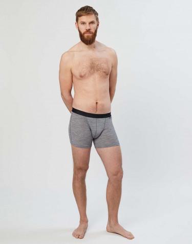 Boxer en laine mérinos pour homme Mélange de gris
