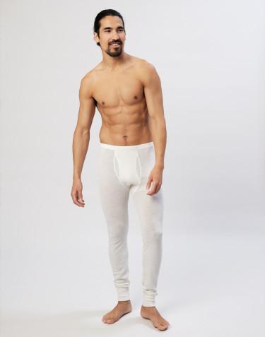 Legging en laine mérinos avec braguette élastique pour homme naturel