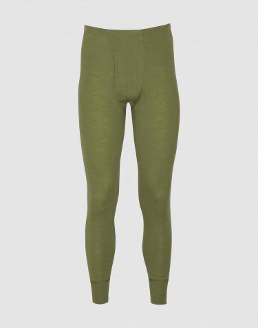 Legging pour homme en laine mérinos avec braguette - Vert avocat