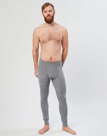 Legging en laine mérinos pour homme Mélange de gris