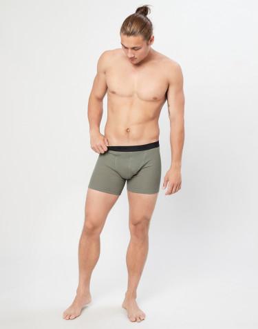 Boxer en laine côtelée pour homme Vert olive