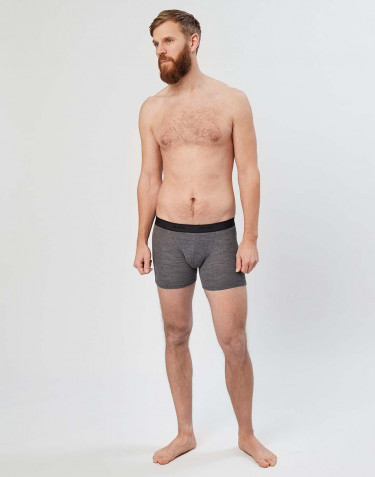 Boxer en laine côtelée pour homme Mélange de gris foncés