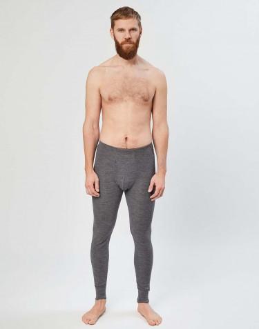 Legging en laine mérinos avec braguette élastique pour homme Mélange de gris foncés