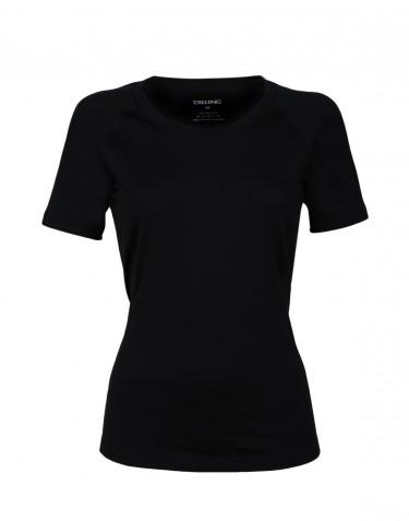 Tee-shirt en laine pour femme - laine mérinos exclusive Noir