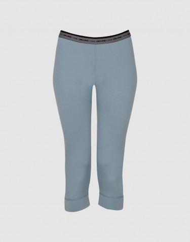 Legging 3/4 pour femme - laine mérinos exclusive Bleu minéral