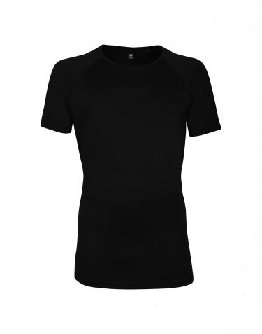 T-shirt en laine pour homme - laine mérinos exclusive Noir