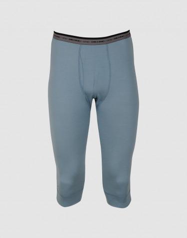 Legging 3/4 pour homme - laine mérinos exclusive Bleu minéral