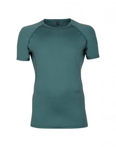 T-shirt en laine pour homme - laine mérinos exclusive Vert émeraude
