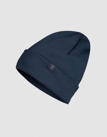Bonnet en tissu éponge de laine Bleu pétrole