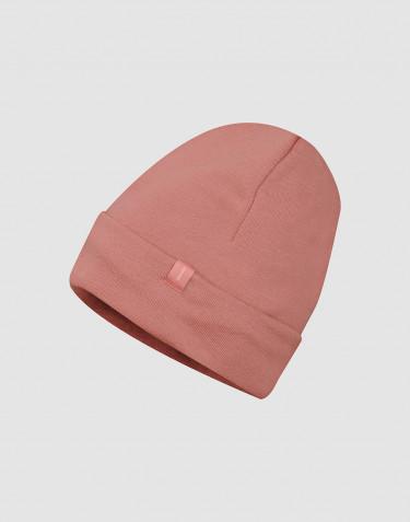 Bonnet en tissu éponge de laine rose