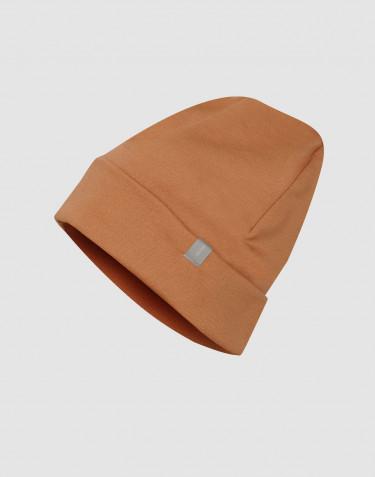 Bonnet en tissu éponge de laine caramel