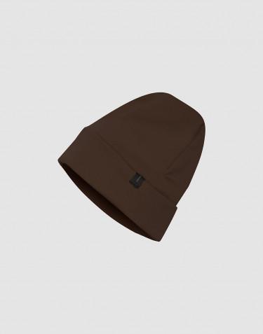 Bonnet en tissu éponge de laine chocolat noir