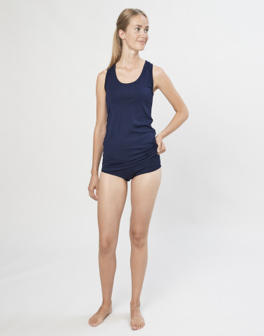 Hipster pour femme en laine mérinos exclusive bio bleu marine
