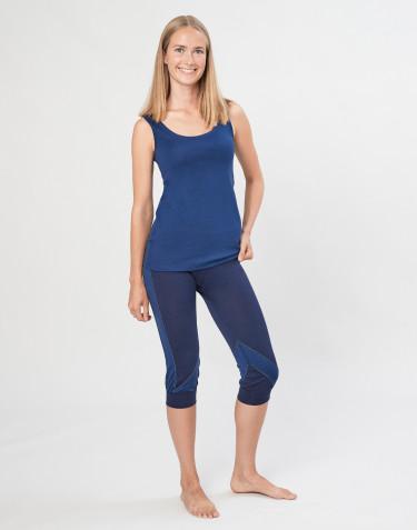 Legging 3/4 pour femme en laine mérinos exclusive bio bleu marine