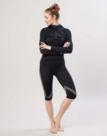 Legging 3/4 pour femme en laine mérinos exclusive bio noir