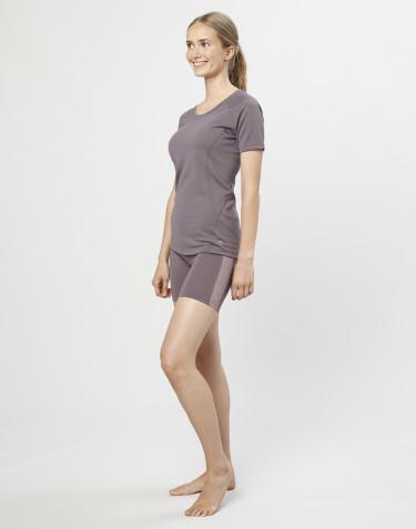 Short en laine pour femme- laine mérinos exclusive bio gris lavande