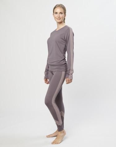 Legging pour femme laine mérinos exclusive bio gris lavande