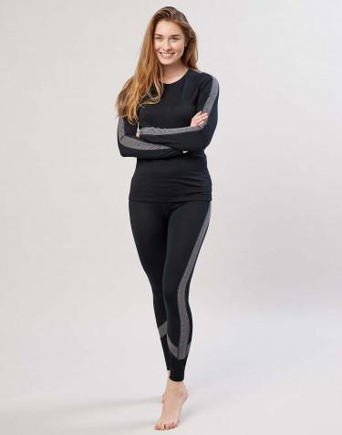 Legging pour femme laine mérinos exclusive bio noir