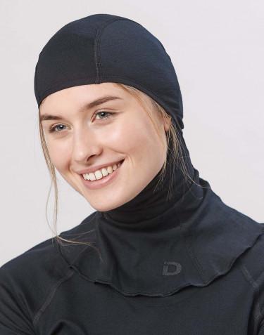 Cagoule pour femme- laine mérinos exclusive bio noir