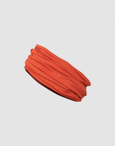 Cache-cou pour femme laine mérinos exclusive bio orange brûlé