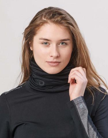Cache-cou pour femme laine mérinos exclusive bio noir