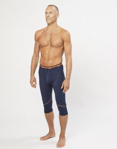 Legging court en laine mérinos exclusive bio bleu marine