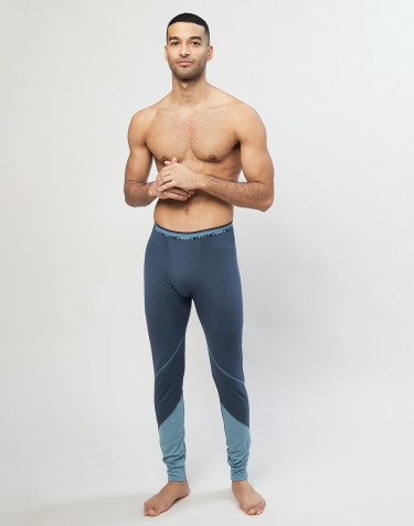 Legging en laine mérinos exclusive bio gris bleu
