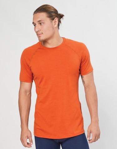 T-shirt pour homme - laine mérinos exclusive bio Orange