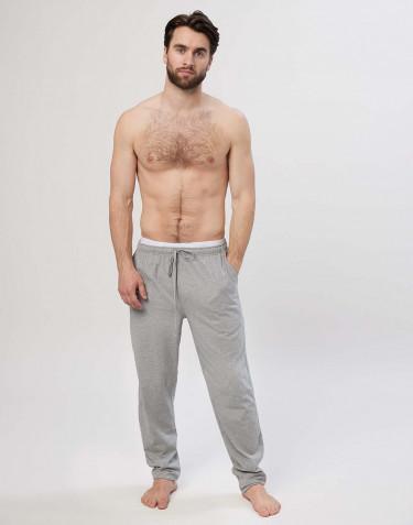 Pantalon pyjama en coton pour homme Mélange de gris
