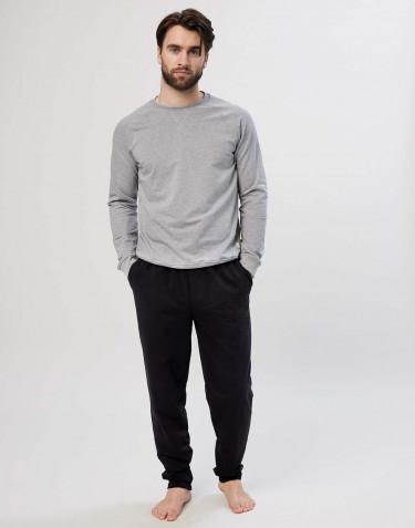 Pantalon de jogging en coton pour homme Noir